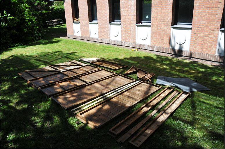montage armoire de jardin en bois