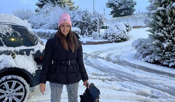 Σ. Τσιμτσιλή: Έναρξη εκπομπής από τα χιόνια!