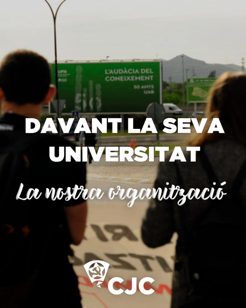 Davant la seva universitat