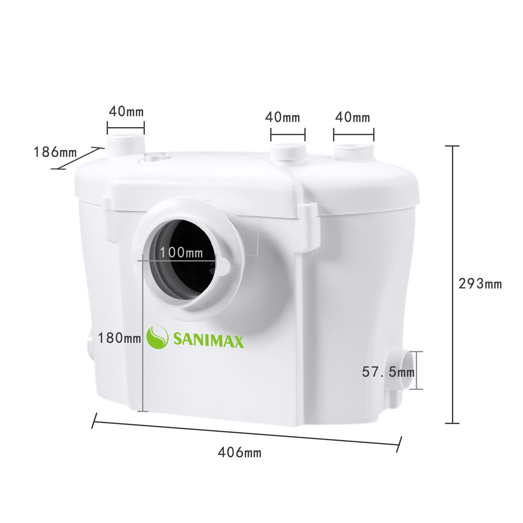 broyeur pour sanimax wc broyeur sanitaire 400w silencieux. Black Bedroom Furniture Sets. Home Design Ideas
