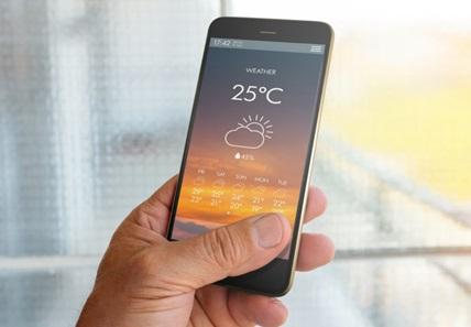 météo sur smartpone