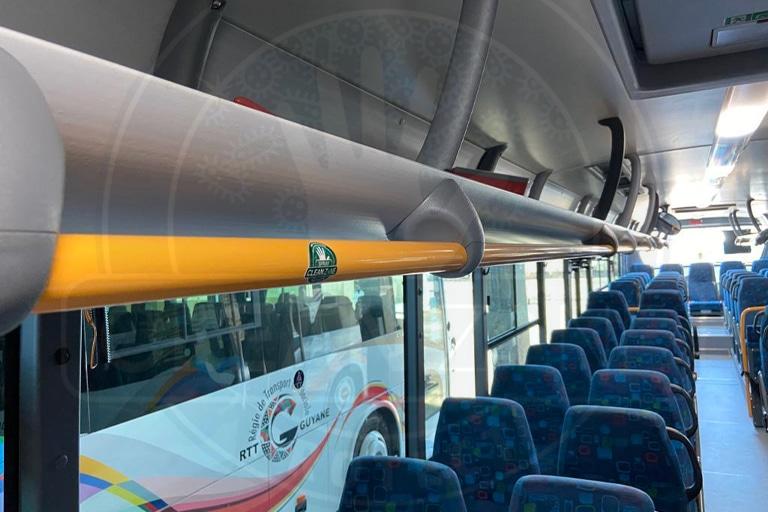 Film antimicrobien barre maintien bus Guyane