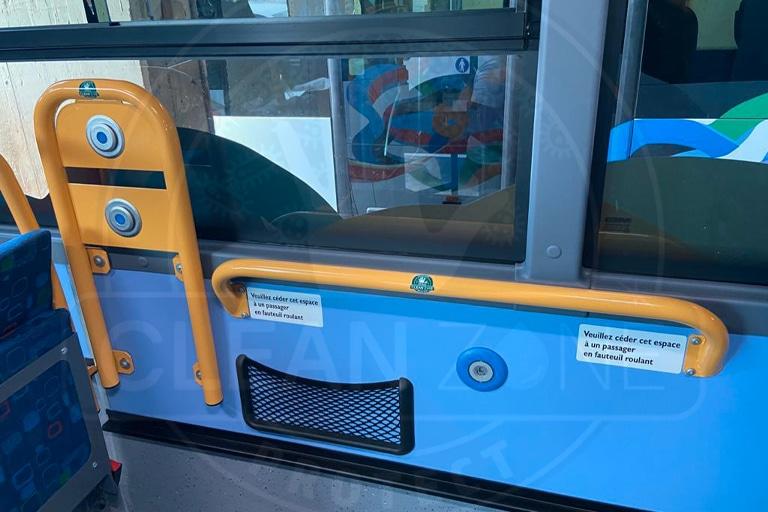 Film antimicrobien barre appui bus Guyane