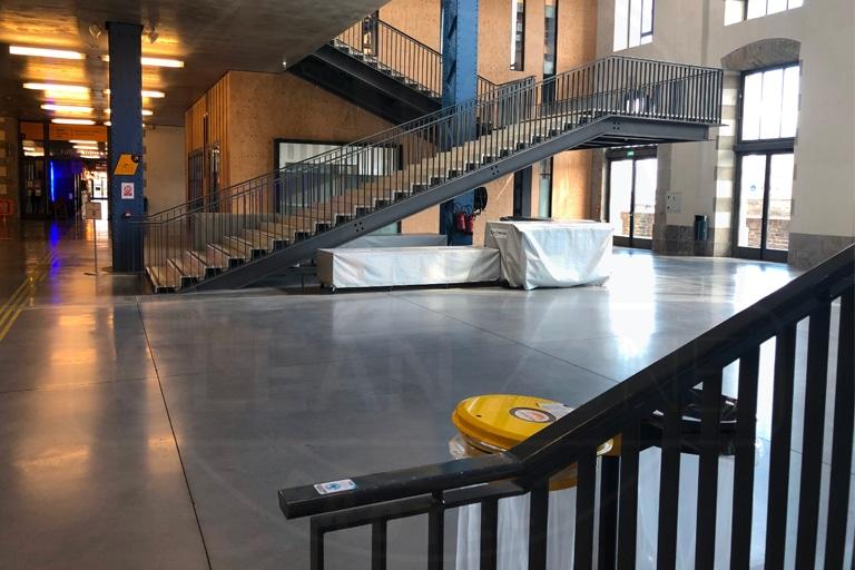 Film antimicrobien rambarde escalier Brest
