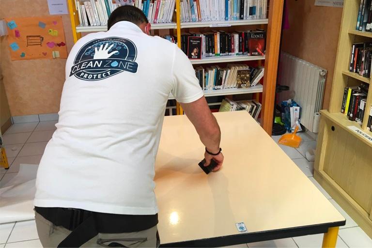 Film antimicrobien bibliothèque Île-Tudy