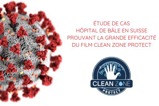 Étude cas Hôpital Bâle prouvant grande efficacité film Clean Zone Protect