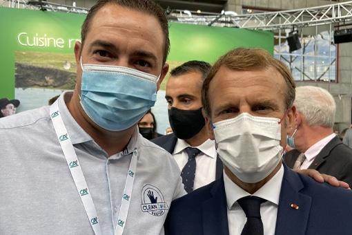 Rencontre Président de la République Emmanuel Macron SIRHA Lyon 2021