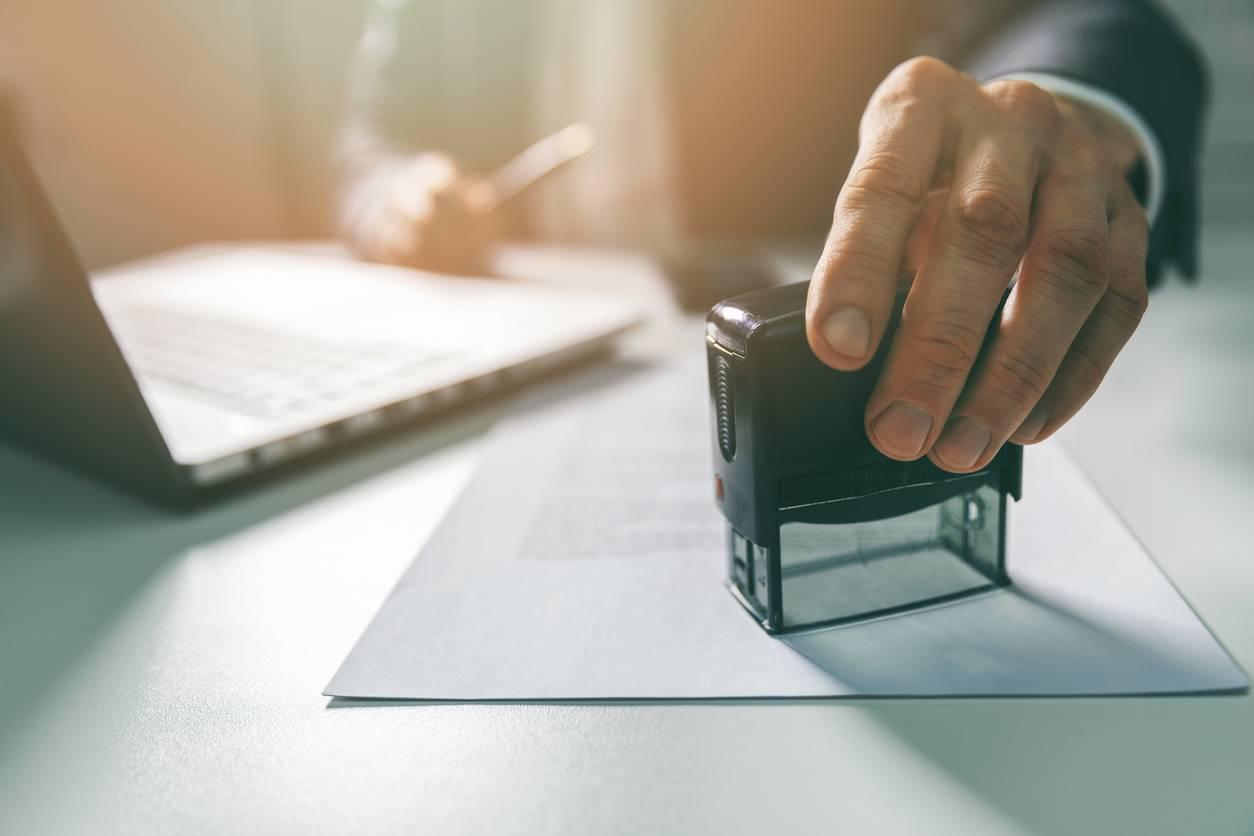 tampon document ; document entreprise