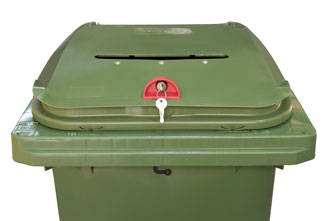Aperture for confidential waste