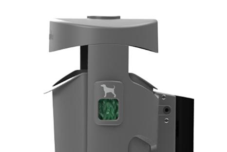 Plastic bag dispenser for dog excrement