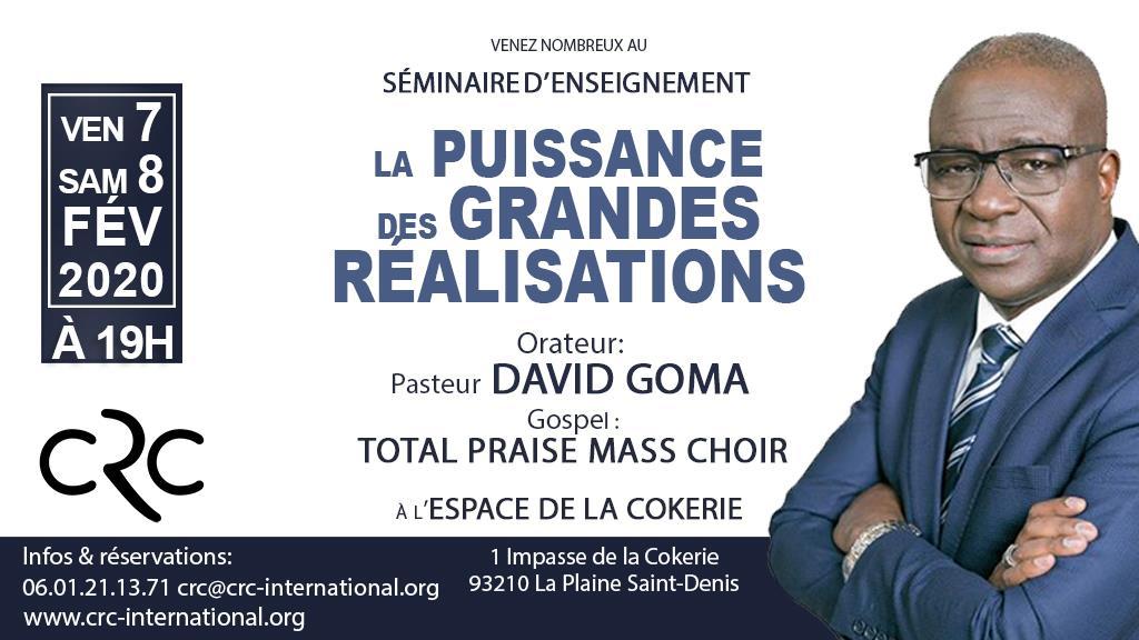 Pst David Goma: La puissance des grandes réalisations - partie 1