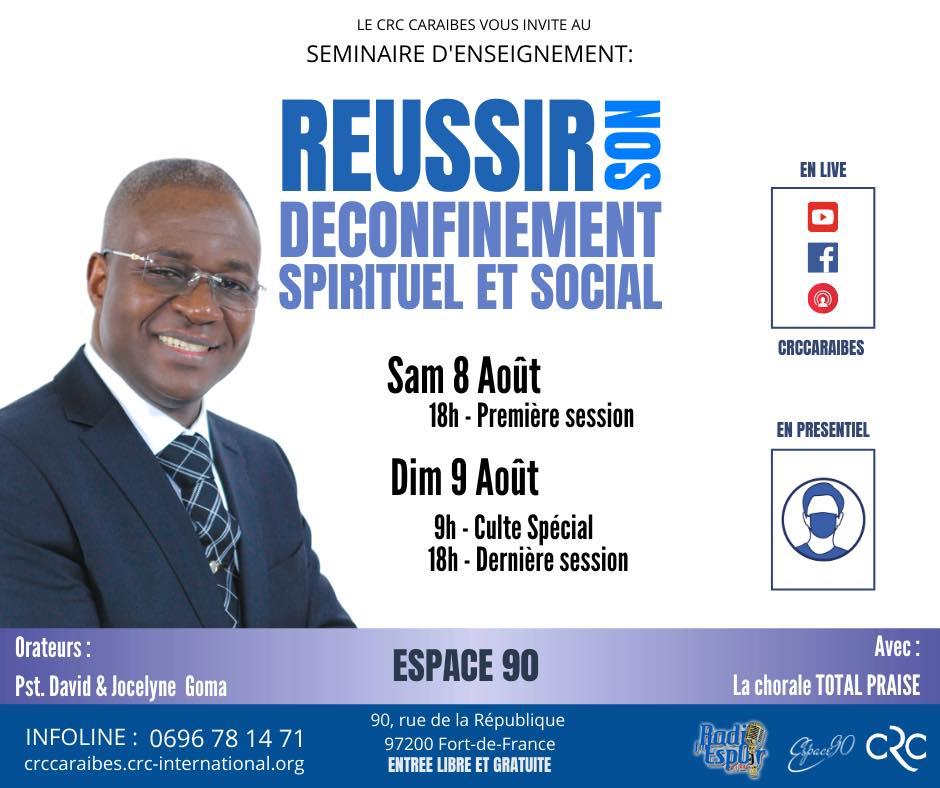 Séminaire d'enseignement: reussir son déconfinement spirituel et social