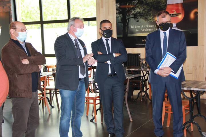 Visite du Préfet des Ardennes à la brasserie Ardwen - Cretes Preardennaises