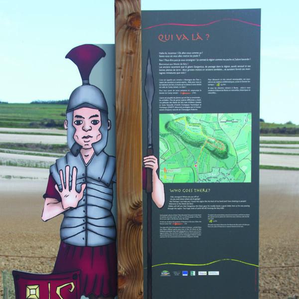 média d'interprétation sur le sentier de découverte des Monts de Sery