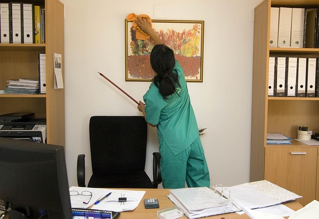 desinfecting and cleaning offices to fight the spread of covid-19
