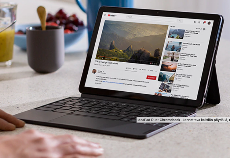 Lenovo IdeaPad Duet is a slim 2-in-1 chromebook.