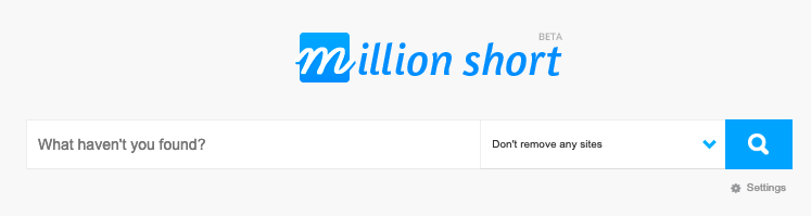 Million Short search engines
