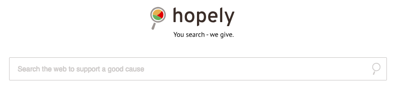 hopely search engine helping charities