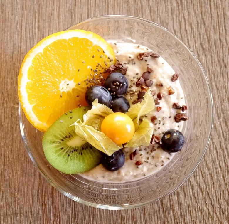 fruit avec graine de chia