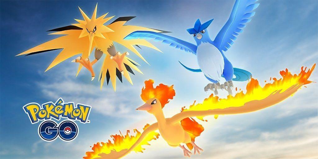 Pájaros Legendarios Pokémon Go