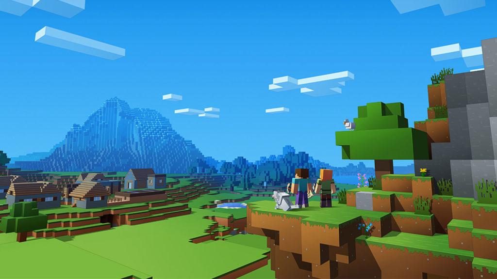 Paisaje en Minecraft