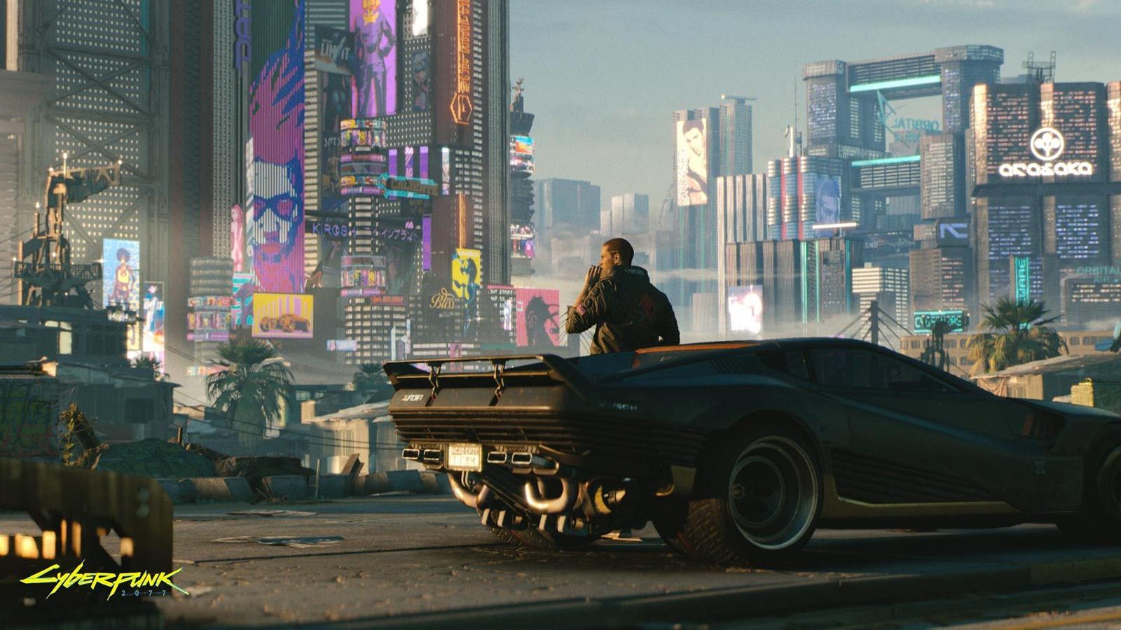 Cyberpunk 2077 coche en ciudad