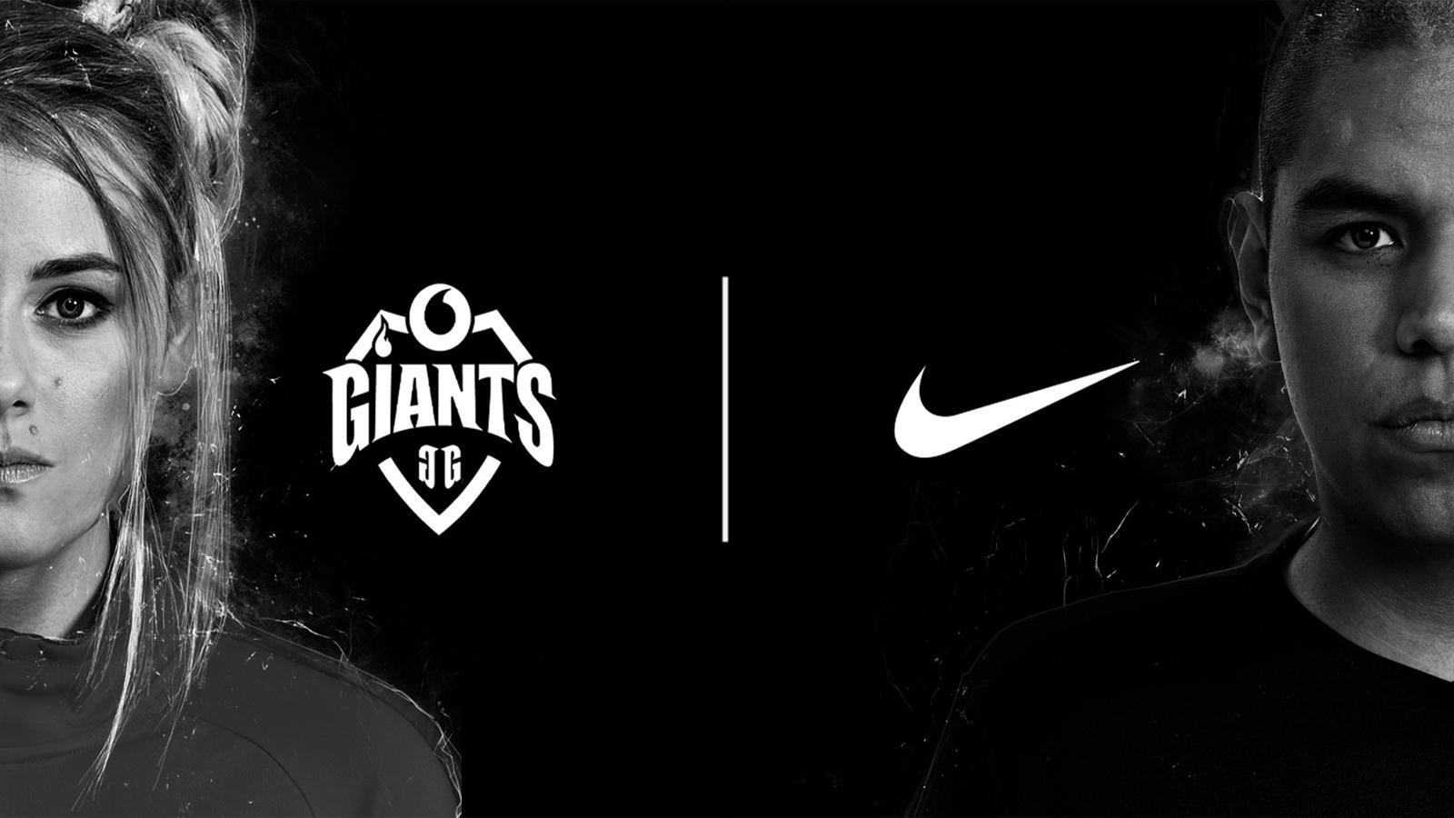 Imagen del anuncio del acuerdo entre Vodafone Giants y Nike