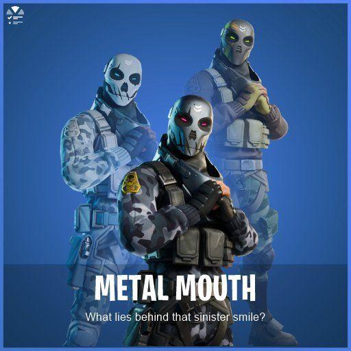 Skin de Metal Mouth con sus estilos en Fortnite