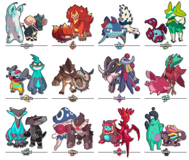 Estas son algunas criaturas de TemTem