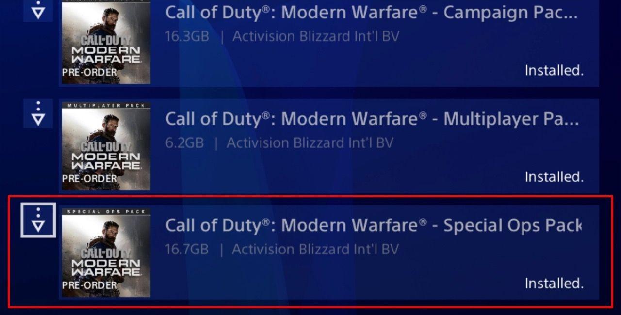 Pack de Spec Ops de Modern Warfare