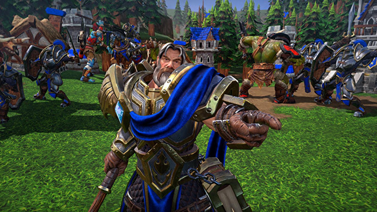 Uther en Warcraft 3 Reforged