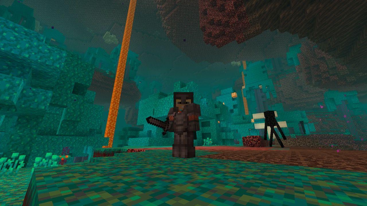Nuevo bioma del Nether en minecraft