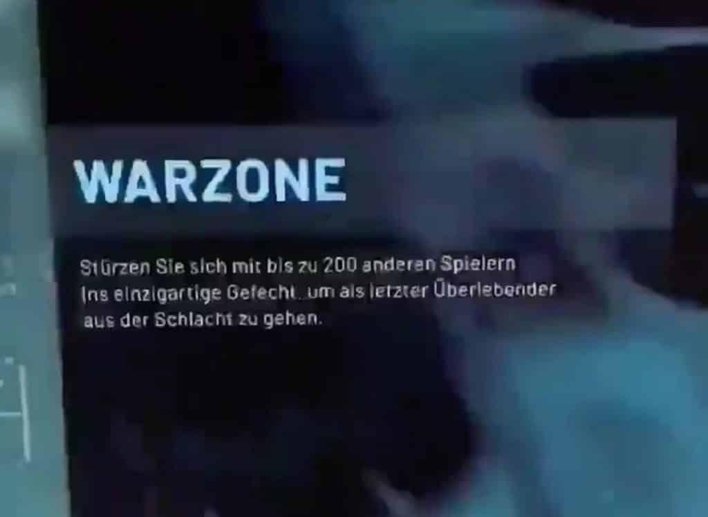 Información sobre Warzone de Modern Warfare