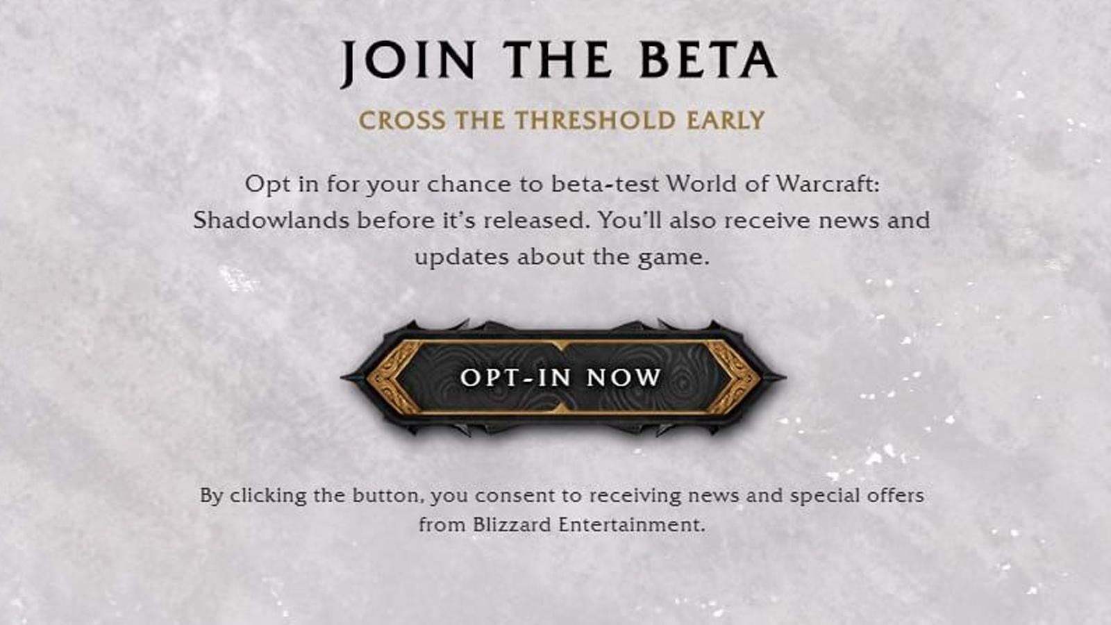 beta shadowlands wow como acceder