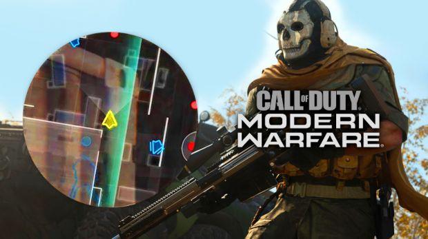 Modern Warfare minimapa