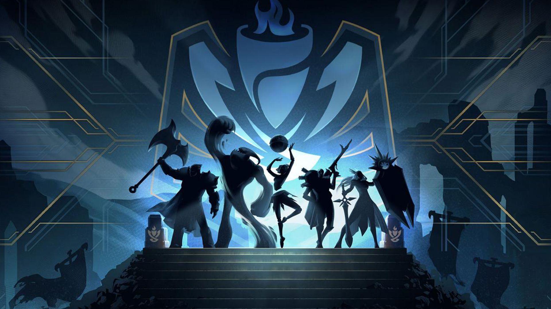 personajes ante el logo de clash