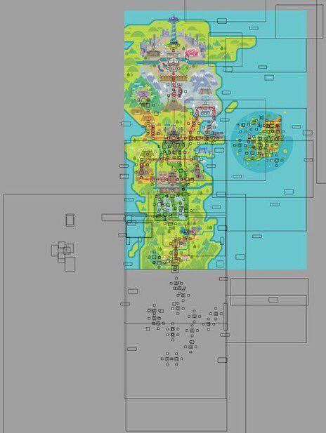 Mapa de Galar Pokémon Espada y Escudo