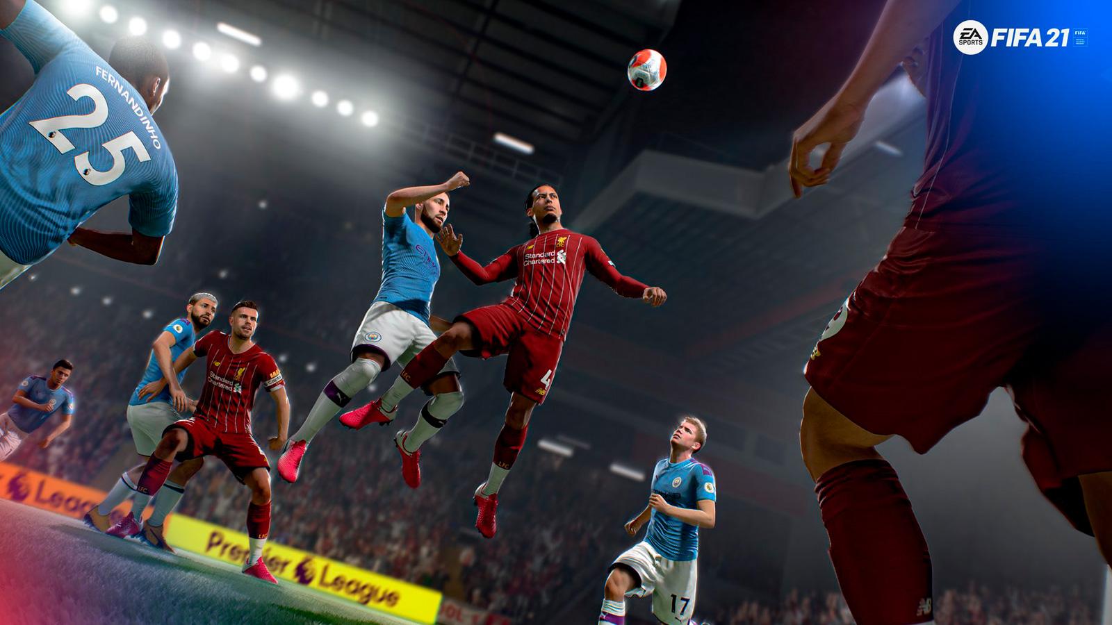 Liverpool y Manchester City en FIFA 21