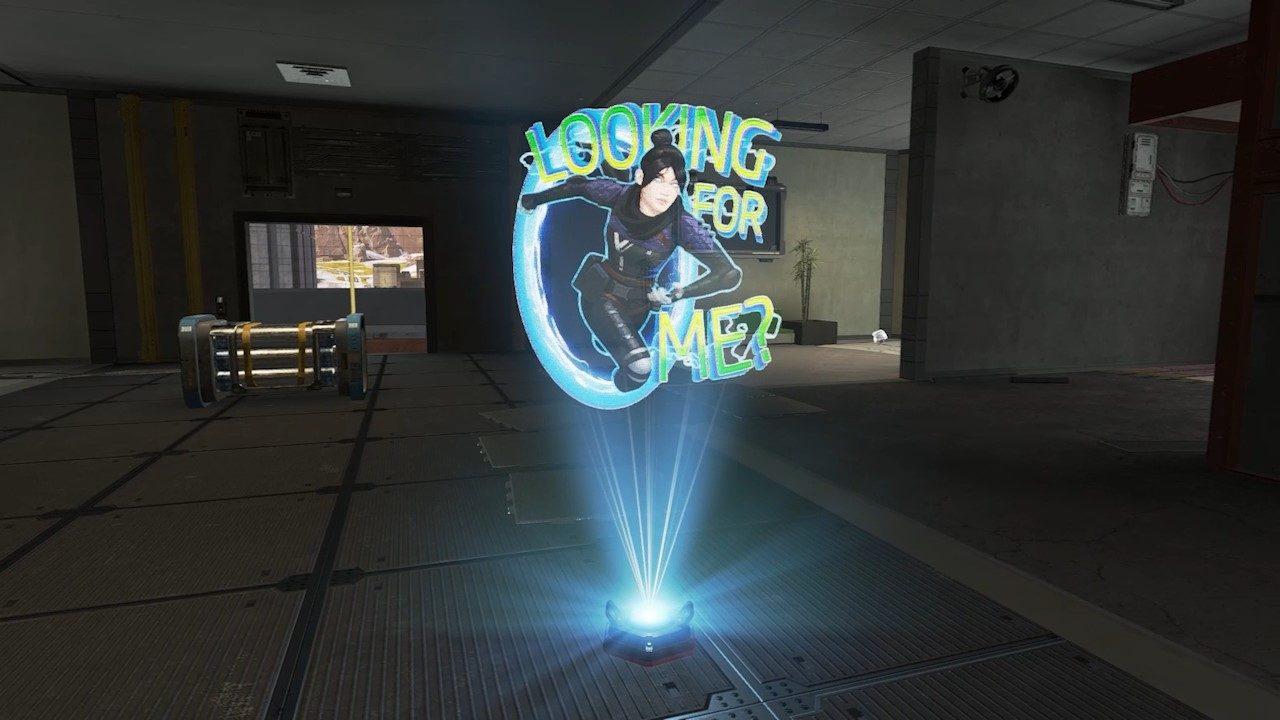 Un spray holográfico de Apex Legends