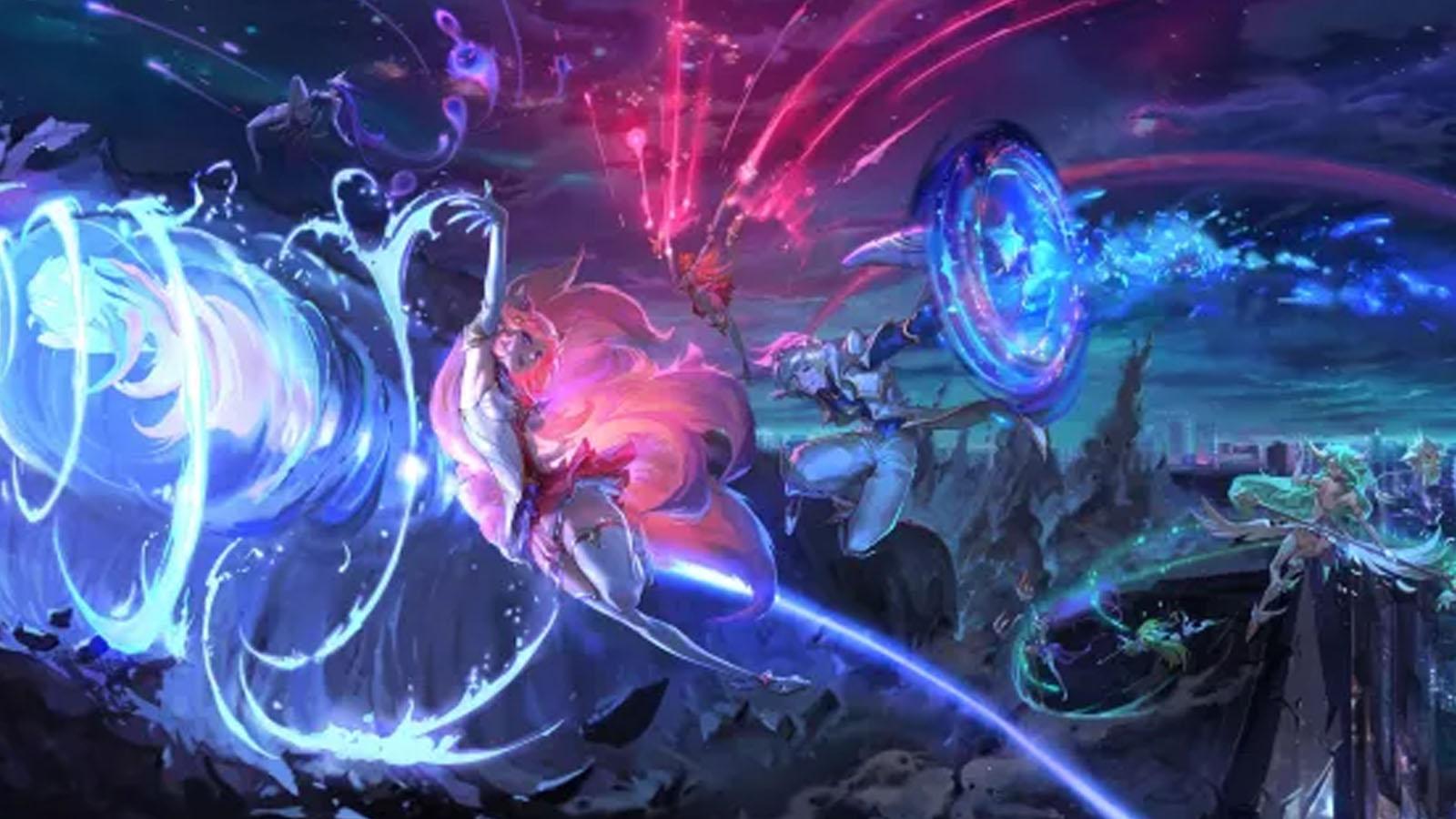 Splash Art de Guardianas en League of Legends