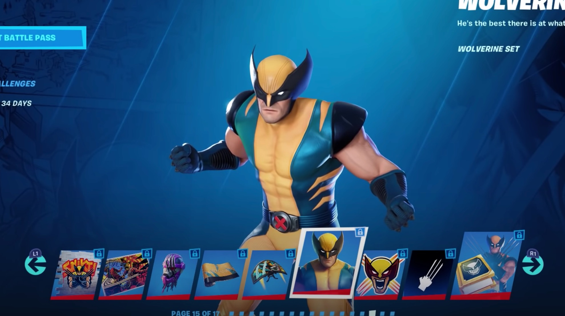 Estilos de Wolverine en Fortnite