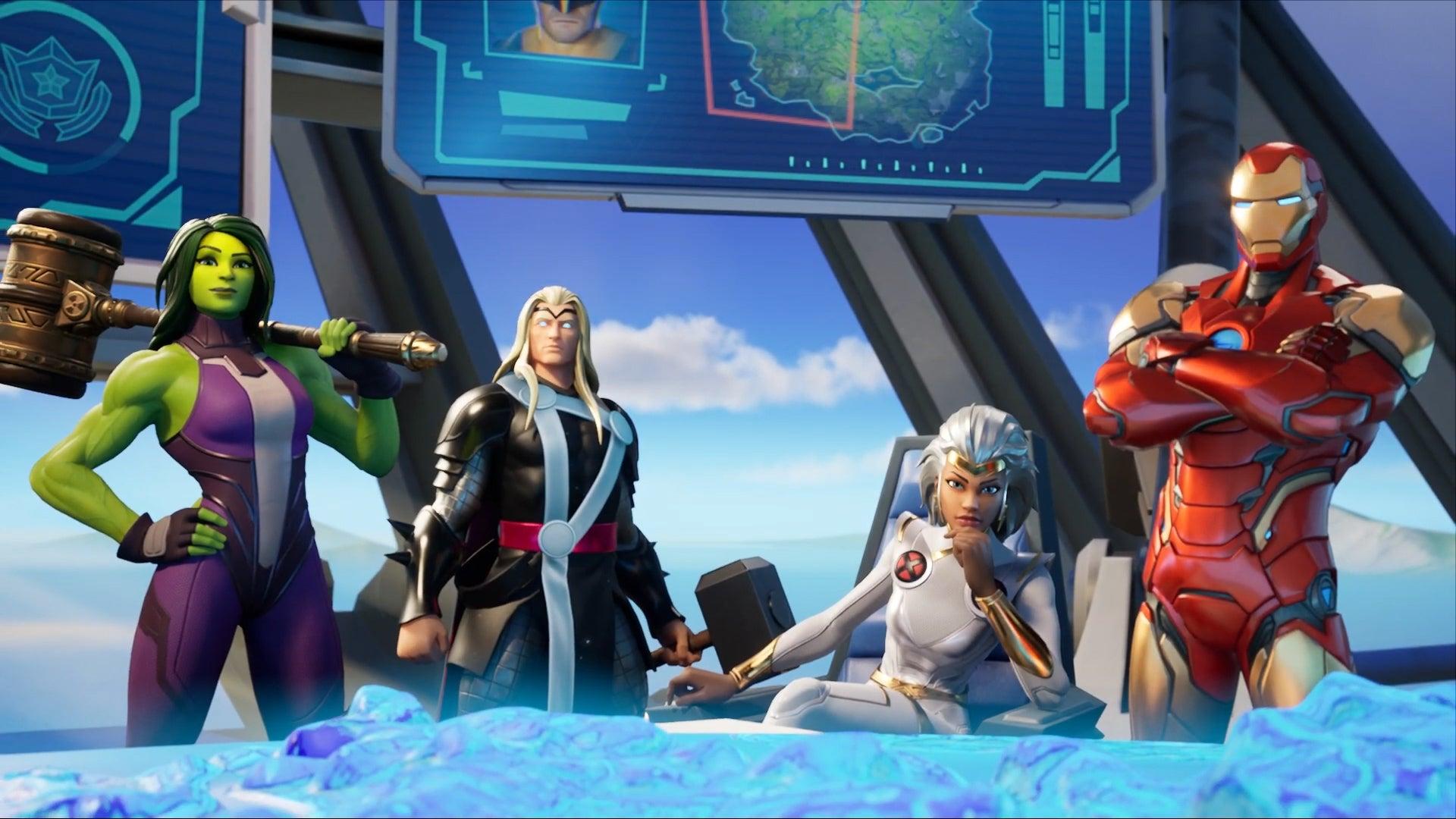 Superhéroes de Marvel en Fortnite