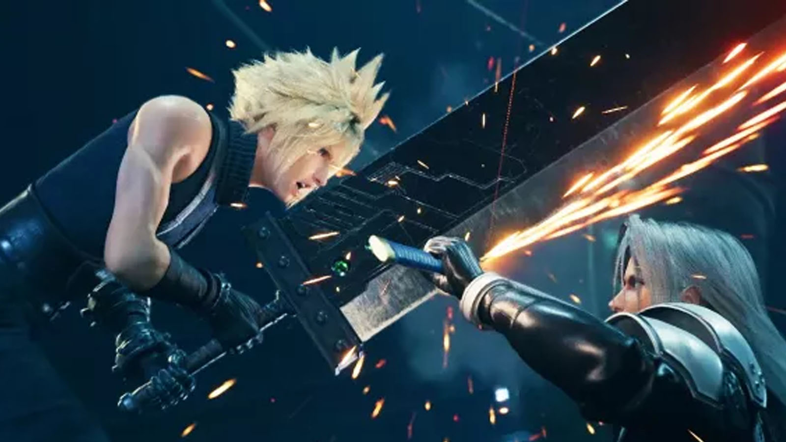 Cloud y Sephiroth en Final Fantasy 7 Remake