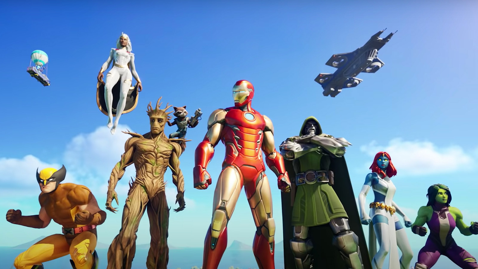 Superhéroes en Fortnite