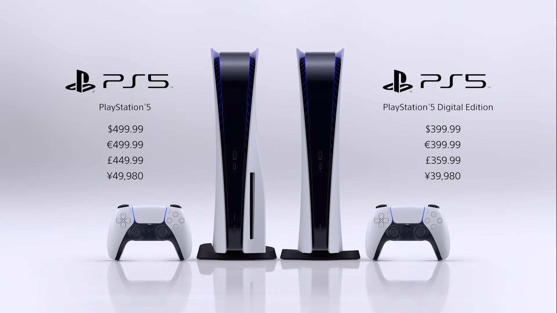 Precios de las diferentes ediciones de PlayStation 5