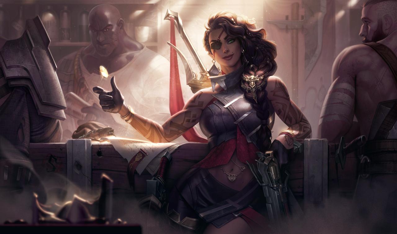 Splash art de Samira de League of Legends