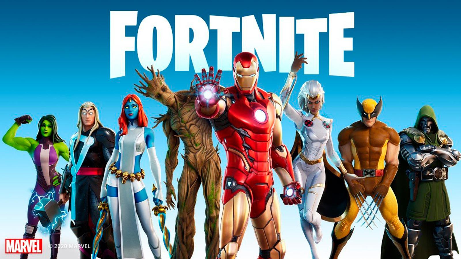 Superhéroes marvel en Fortnite