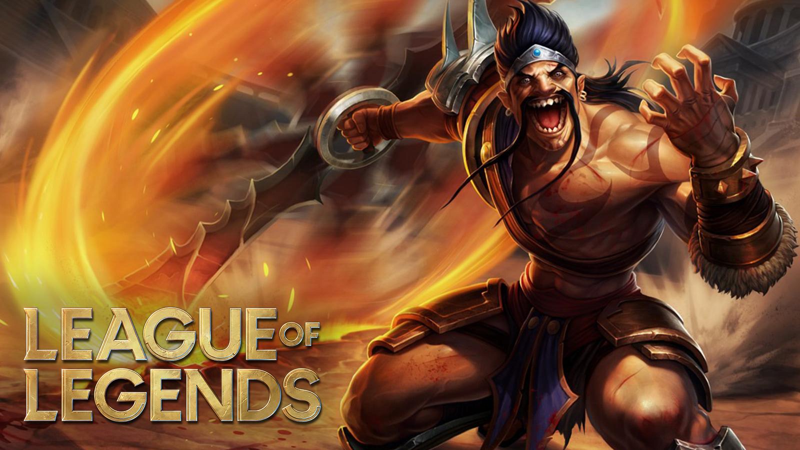 Draven con el logo de League of Legends