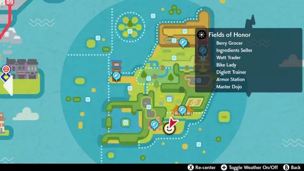 Mapa para encontrar a Chansey