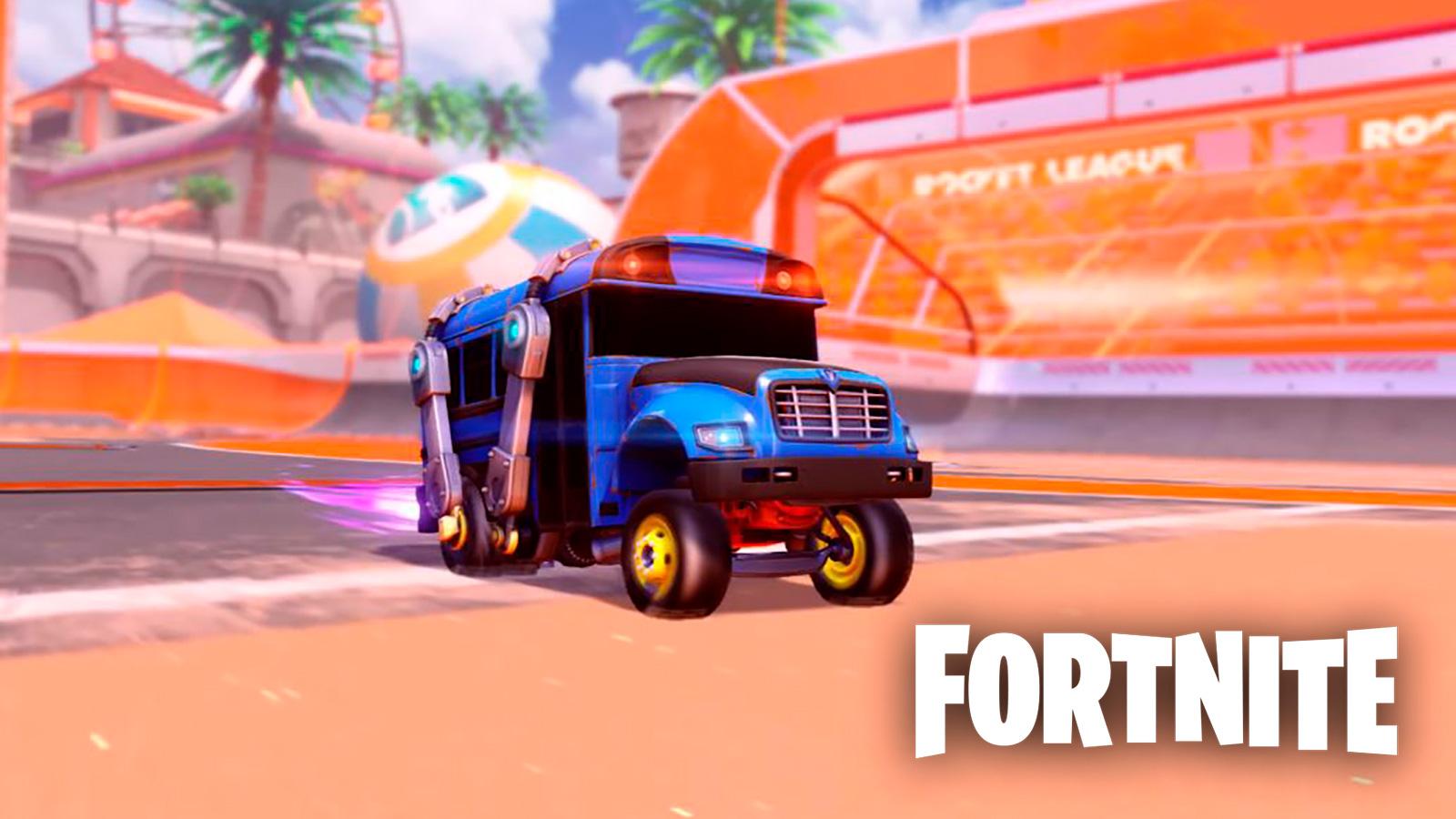 Autobús de batalla de Fortnite en Rocket League